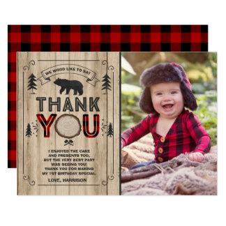 Party för Lumberjack för Lumberjacktackkort 12,7 X 17,8 Cm Inbjudningskort
