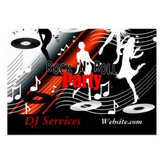 Party för musik för visitkortDJ-diskjockey Retro Visit Kort