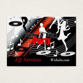 Party för musik för visitkortDJ-diskjockey Retro Visitkort
