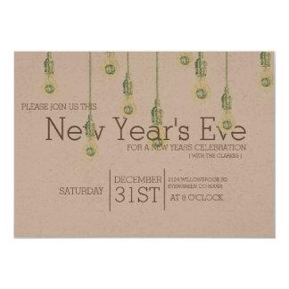 Party för nyårsafton för Lightbulbs | för vintage 12,7 X 17,8 Cm Inbjudningskort