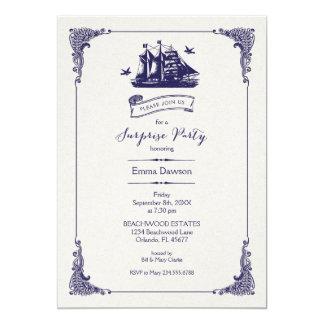 Party för överrrakning för marin- och 12,7 x 17,8 cm inbjudningskort