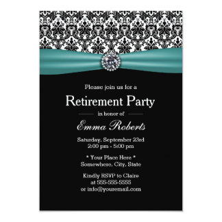 Party för pension för elegantt krickaband 12,7 x 17,8 cm inbjudningskort