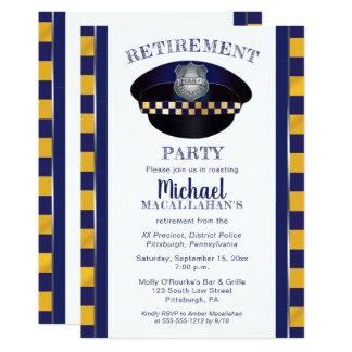 Party för pension för hatt för snut för polis | 12,7 x 17,8 cm inbjudningskort