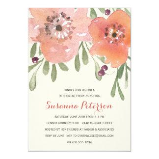 Party för pension för pastellfärgad vattenfärg för 12,7 x 17,8 cm inbjudningskort