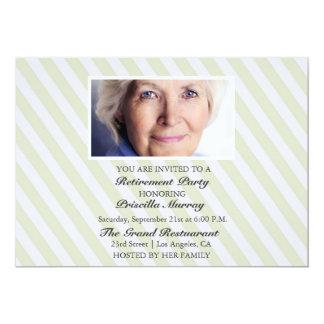 Party för pension för porträttgultrandar 12,7 x 17,8 cm inbjudningskort