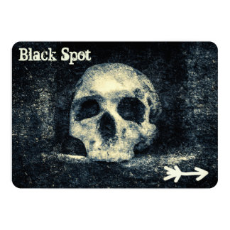 Party för pirat för fläck för Halloween 12,7 X 17,8 Cm Inbjudningskort