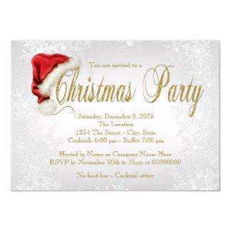 Party för silverSnowflakejul 11,4 X 15,9 Cm Inbjudningskort