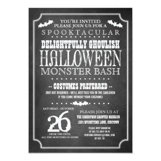 Party för svart tavlaHalloween dräkt 12,7 X 17,8 Cm Inbjudningskort