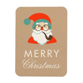 Party för vintageHipsterSanta jul Magnet