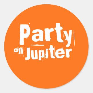 Party på den Jupiter klistermärken