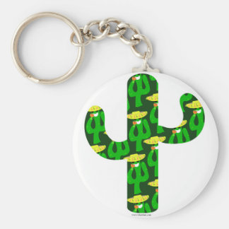 Party på kaktusen rund nyckelring