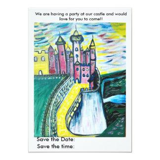 Party på vårt slott 12,7 x 17,8 cm inbjudningskort