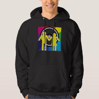 Partybakgrund Sweatshirt Med Luva