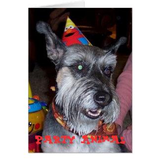 Partydjur, födelsedagkort hälsningskort