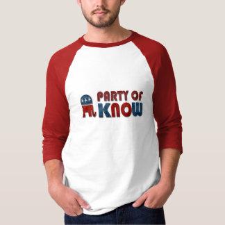 Partyet av vet rolig GOP Tee Shirts