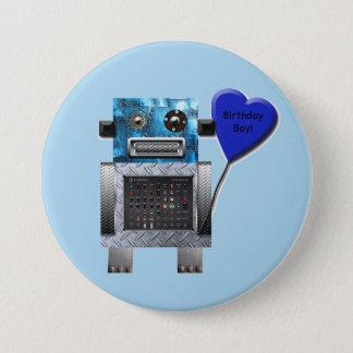 Partyet för födelsedagpojkeroboten knäppas mellanstor knapp rund 7.6 cm