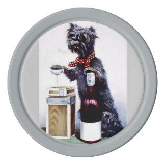 Partyet för katter för dåligahunden dricker det poker marker