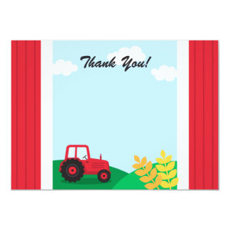 Partyet för lantgårdtraktorbarns födelsedag tackar 11,4 x 15,9 cm inbjudningskort