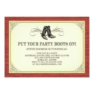 Partyet startar gammala westerna inbjudningar