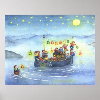 Partyfartyg med barnbarnkammareaffischen poster