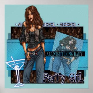 Partyflicka - affisch