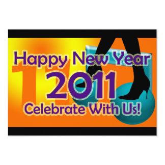 Partyinbjudan för 2011 nyårsafton 12,7 x 17,8 cm inbjudningskort