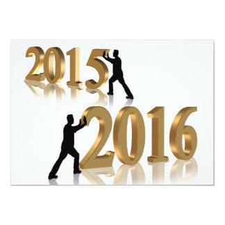 Partyinbjudan för nytt år 2016 12,7 x 17,8 cm inbjudningskort