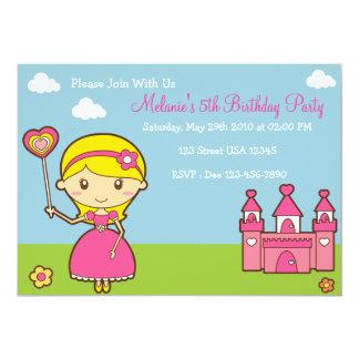 Partyinbjudan för Princess 5x7 12,7 X 17,8 Cm Inbjudningskort