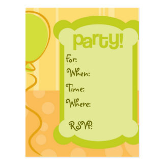 Partyinbjudan Vykort