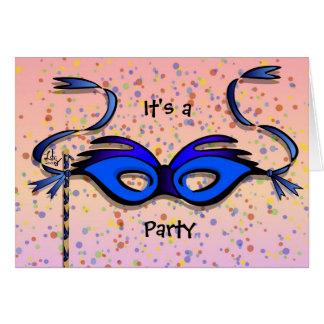 Partyinbjudankort Hälsningskort