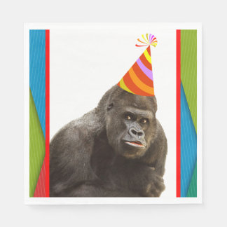 Partynågot liknande en djur gorilla med pappersservett