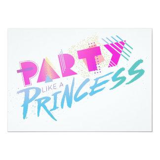 """""""Partynågot liknande inbjudningar för Princess"""""""