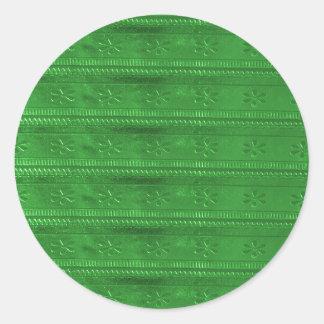 PartyPRESENTARTIKLAR som den gröna mallen DIY Runt Klistermärke