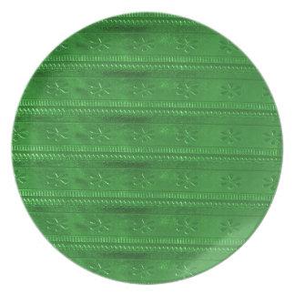 PartyPRESENTARTIKLAR som den gröna mallen DIY Tallrik