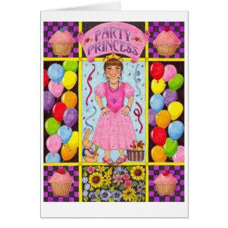 PartyPrincess Födelsedag Kort