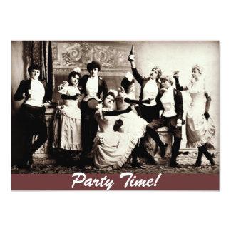 PartyTime antika kvinnor som firar inbjudan