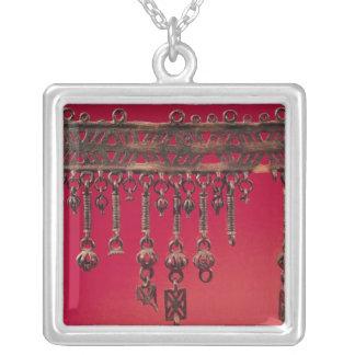 Parure med sätta en klocka på hängen silverpläterat halsband