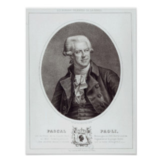 Pascal Paoli, 1872 Poster