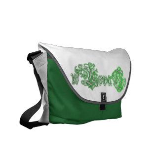 påse för budbärare för wUvvaTvmedelgrönt Kurir Väskor