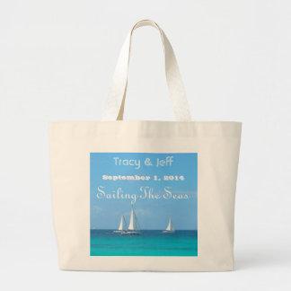 Påse för strandjumbototo som seglar haven jumbo tygkasse