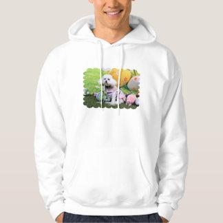 Påsk - Bichon Frise - Mia Sweatshirt Med Luva