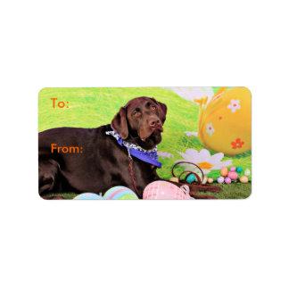 Påsk - choklad Labrador - Hershey Adressetikett