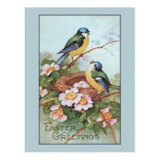 Påsk för vintageblåttfågel vykort