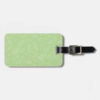 Påsk gröna Retro Paisley Bagagebricka