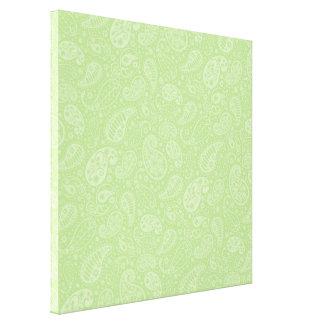 Påsk gröna Retro Paisley Canvastryck