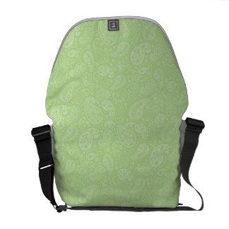 Påsk gröna Retro Paisley Kurir Väska