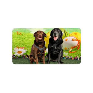 Påsk - Labrador - jack och Diane Adressetikett
