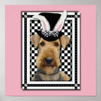 Påsk - någon kanin älskar dig - Airedale Poster