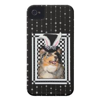 Påsk - någon kanin älskar dig australian shepherd iPhone 4 Case-Mate skydd