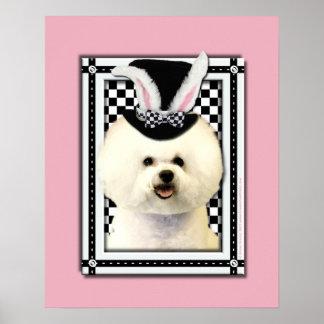 Påsk - någon kanin älskar dig - Bichon Frise Poster